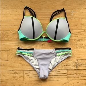 Victoria's Secret / Color Block Purple Bikini